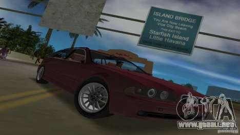 BMW 5S Touring E39 para GTA Vice City vista interior