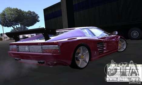Ferrari 512 TR para GTA San Andreas left