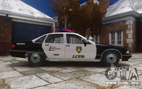 Chevrolet Caprice 1991 Police para GTA 4 vista interior
