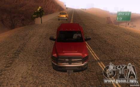 Dodge Ram 3500 Laramie 2010 para vista lateral GTA San Andreas