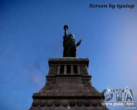 New Statue of Liberty para GTA 4 segundos de pantalla