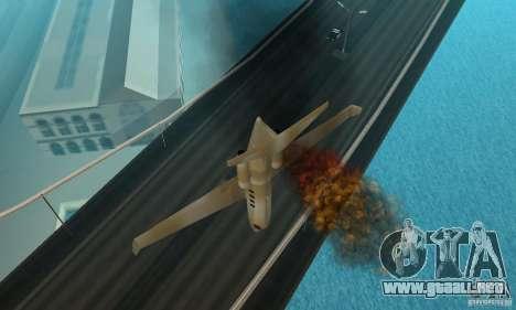 Gold shamal para GTA San Andreas vista hacia atrás