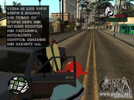 Don Cangrejo para GTA San Andreas octavo de pantalla