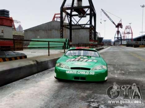 Chevrolet Monte Carlo SS 88 Nascar para GTA 4 vista hacia atrás