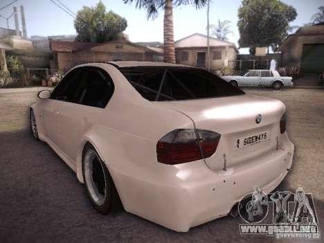 BMW 320SI Drift para GTA San Andreas vista posterior izquierda