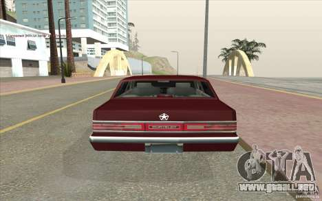 Chrysler Dynasty para GTA San Andreas vista posterior izquierda