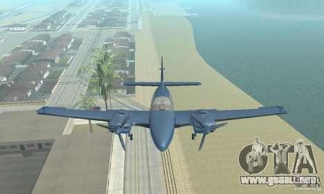Beechcraft Baron 58 T para la visión correcta GTA San Andreas