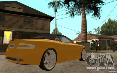 Aston Martin DB9 Volante para la visión correcta GTA San Andreas
