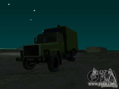 GAZ 3309 patrullero para la visión correcta GTA San Andreas