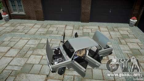 VAZ 2107 v1.0 para GTA 4 vista hacia atrás