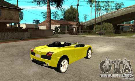 Lamborghini Concept S para visión interna GTA San Andreas