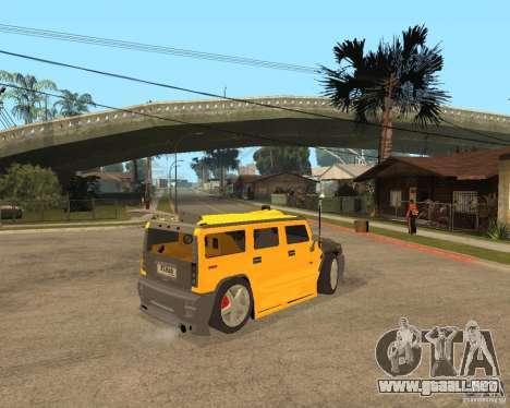 Hummer H2 para la visión correcta GTA San Andreas