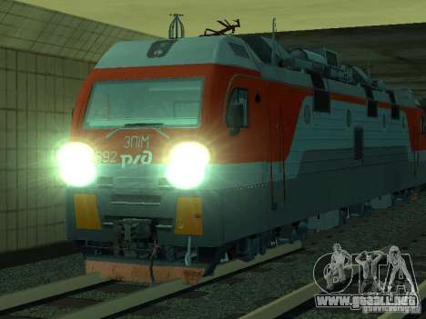 ÈP1M-392 OJSC «RUSSIAN RAILWAYS» para la vista superior GTA San Andreas