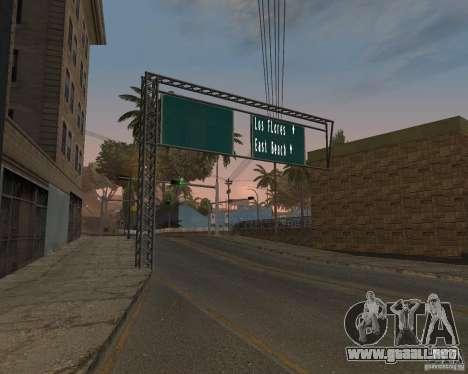 Carretera signos v1.0 para GTA San Andreas segunda pantalla