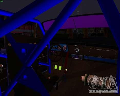VAZ 2101 Drift Car para GTA San Andreas vista hacia atrás