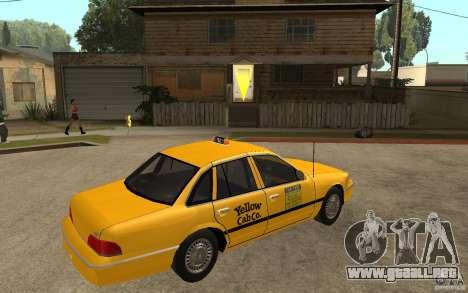 Ford Crown Victoria Taxi 1992 para la visión correcta GTA San Andreas