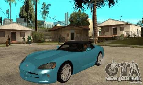 Dodge Viper SRT-10 para GTA San Andreas