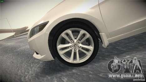 Honda CR-Z 2010 V1.0 para vista inferior GTA San Andreas