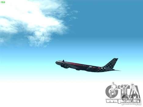 Airbus A340-600 Etihad Airways F1 Livrey para visión interna GTA San Andreas