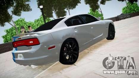 Dodge Charger SRT8 2012 para GTA 4 vista hacia atrás