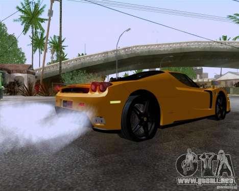 Ferrari Enzo para GTA San Andreas vista posterior izquierda