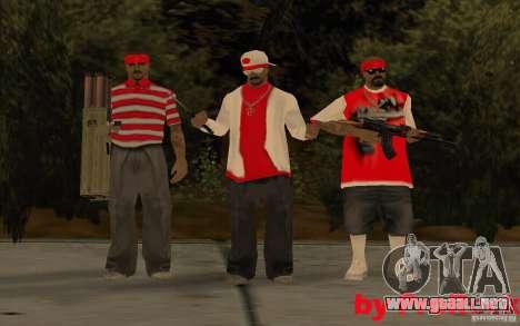 Nuevos aspectos de la pandilla de Los Aztecas para GTA San Andreas