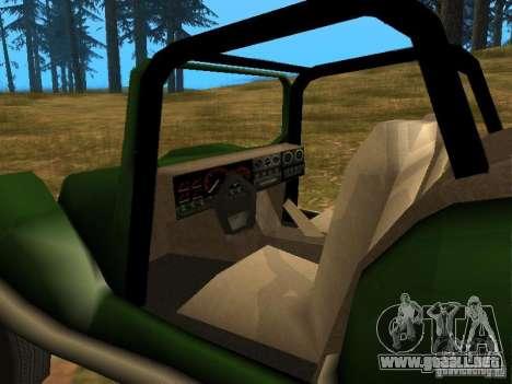 Nueva inyección BF para GTA San Andreas vista hacia atrás