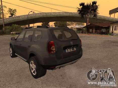 Dacia Duster para GTA San Andreas vista hacia atrás