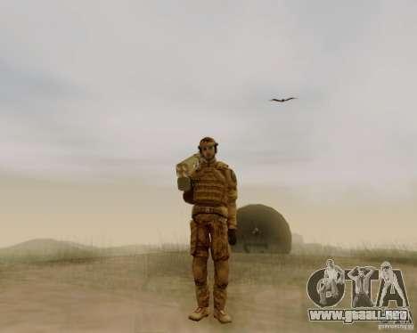 Tom Clancys Ghost Recon para GTA San Andreas segunda pantalla