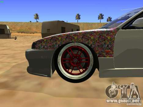 Nissan Silvia S14 JDM para visión interna GTA San Andreas