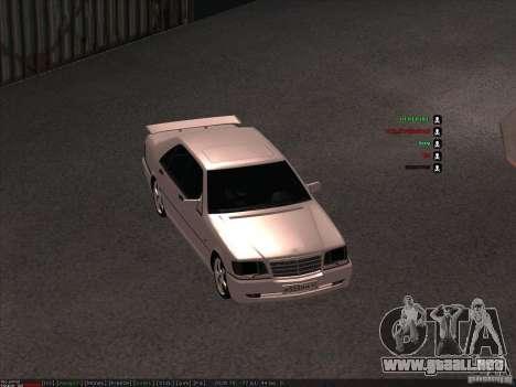 Mercedes-Benz 600SEL AMG 1993 para GTA San Andreas vista hacia atrás
