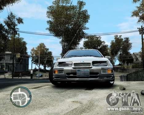 Ford Sierra RS500 Cosworth v1.0 para GTA 4 vista hacia atrás
