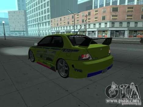 Mitsubishi Lancer Evolution 8 para el motor de GTA San Andreas