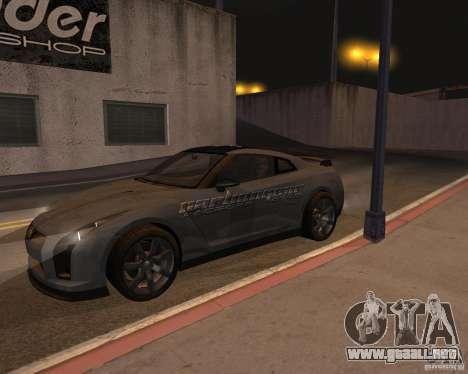Nissan GT-R Pronto para la vista superior GTA San Andreas