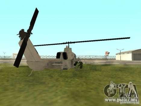 AH-1 Supercobra para GTA San Andreas vista posterior izquierda