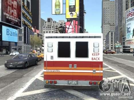 GMC C4500 Ambulance [ELS] para GTA 4 Vista posterior izquierda