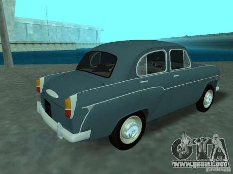 Moskvich 407 para la visión correcta GTA San Andreas