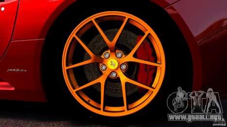 Ferrari California Novitec para GTA 4 vista desde abajo