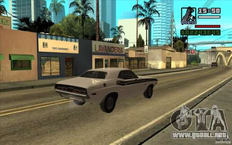 Dodge Challenger 1971 para GTA San Andreas left