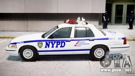 Ford Crown Victoria NYPD para GTA 4 Vista posterior izquierda