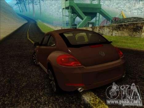 Volkswagen Beetle Turbo 2012 para GTA San Andreas left