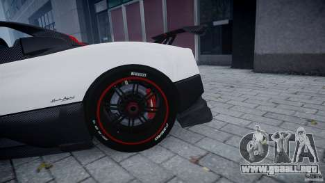 Pagani Zonda Cinque Roadster para GTA 4 vista interior