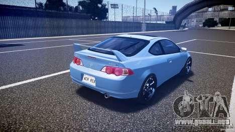 Acura RSX TypeS v1.0 Volk TE37 para GTA 4 vista lateral
