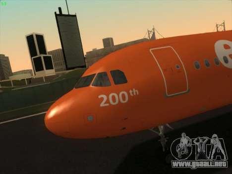 Airbus A320-214 EasyJet 200th Plane para GTA San Andreas interior