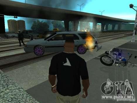 Las Granalladoras realista para GTA San Andreas sucesivamente de pantalla