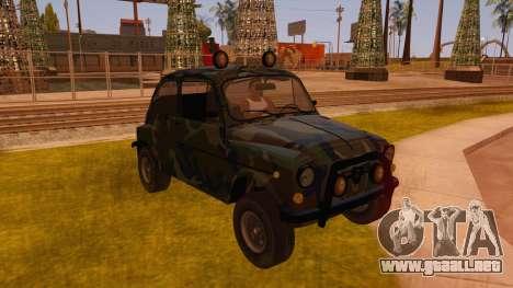 Zastava 750 4x4 Camo para GTA San Andreas vista hacia atrás