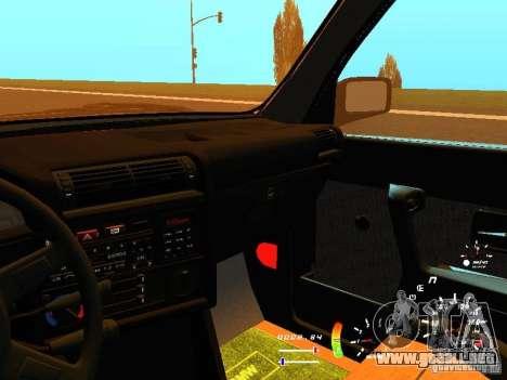 BMW E30 87-91 para la vista superior GTA San Andreas