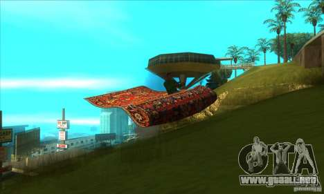 Flying Carpet v.1.1 para visión interna GTA San Andreas