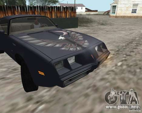 Pontiac Firebird Trans Am Turbo 1980 para GTA San Andreas left