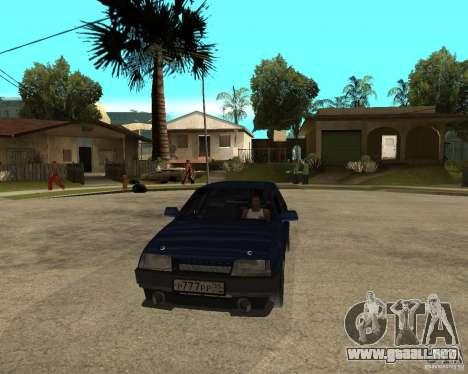 Vaz 21099 sintonía por Danil para GTA San Andreas vista hacia atrás